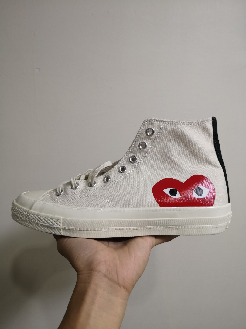 Converse Chuck Taylor All Star 70s HI Comme Des Garcons Play White ... dab92d0d7