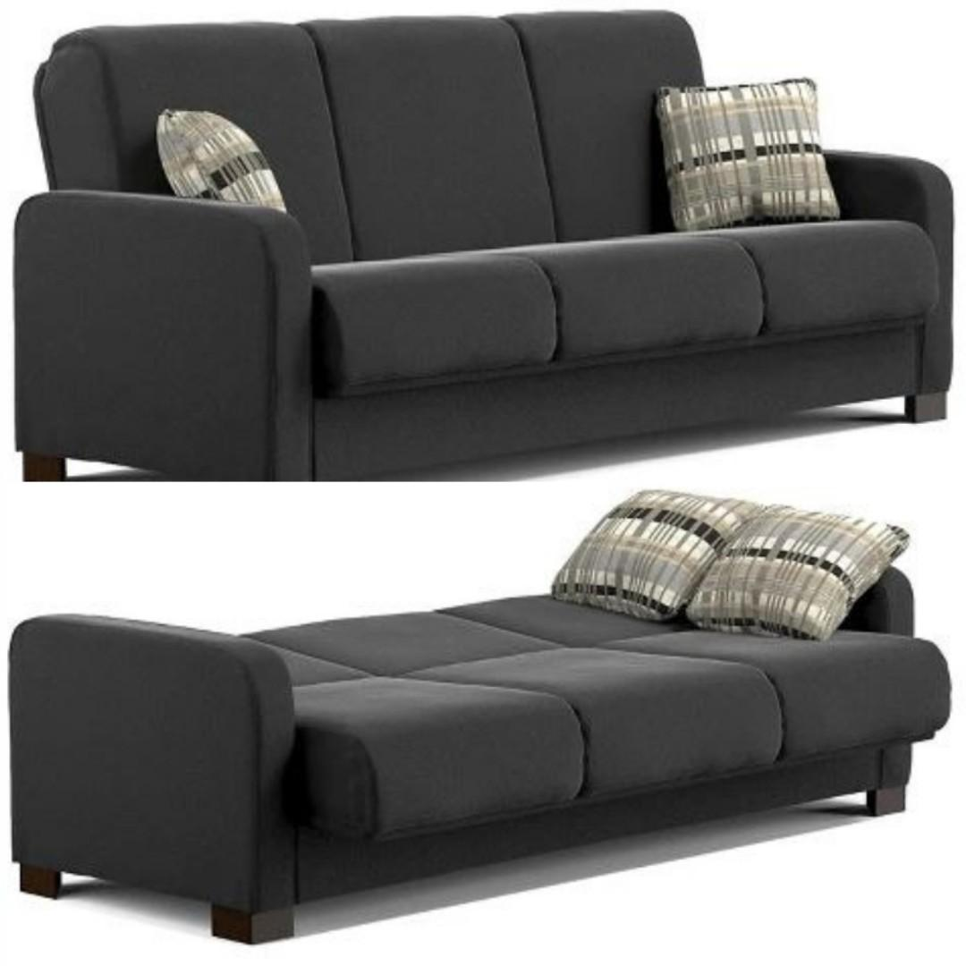 Cool Convert A Couch Black Microfiber Futon Sofa Sleeper Sofabed Squirreltailoven Fun Painted Chair Ideas Images Squirreltailovenorg