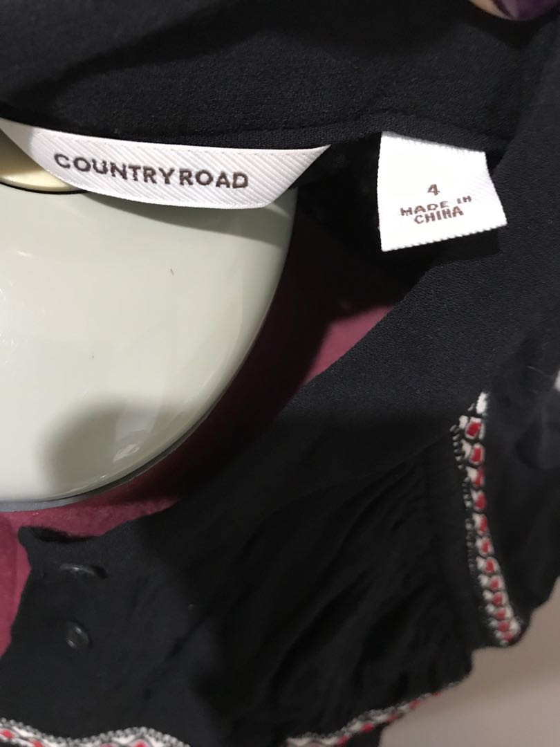Country road black high neck dress with pockets long sleeve