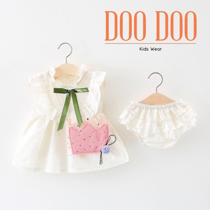 6b5a3ddf56c3 DooDoo Kids Wear Baby Girl Dress Set Free decoration