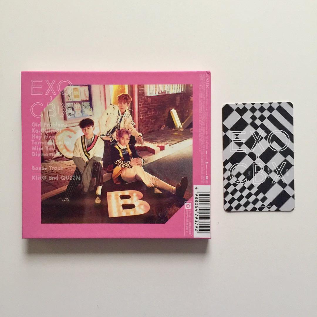 EXO CBX Girls Album Baekhyun Cover with Official Baekhyun Photocard