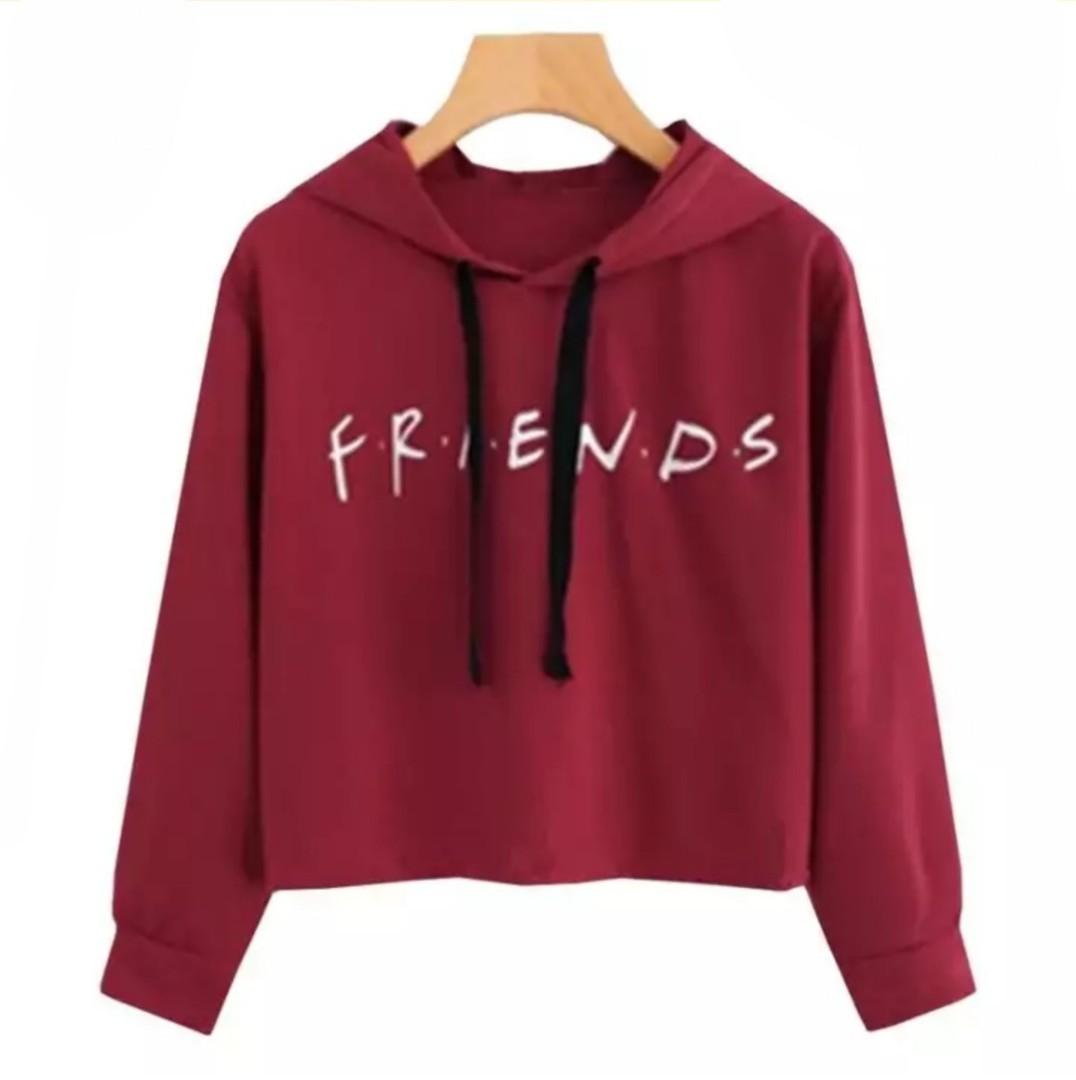 8b650742d1183f PO  FRIENDS F.R.I.E.N.D.S Crop top hoodie