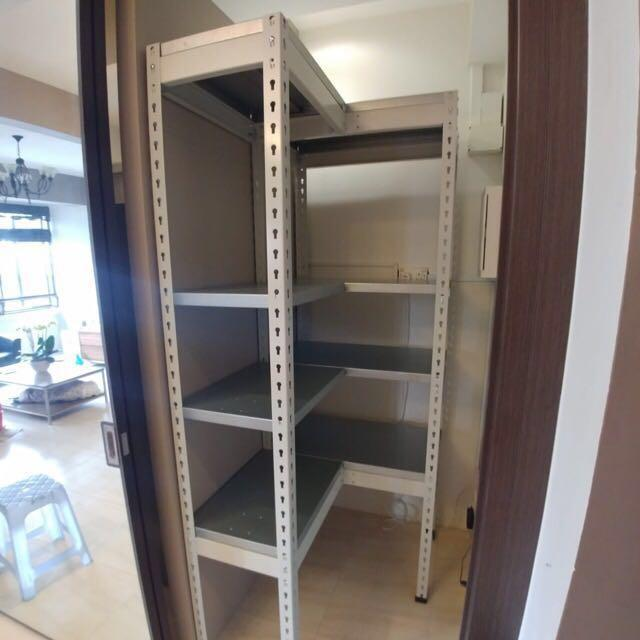 Full Metal L shape storage rack