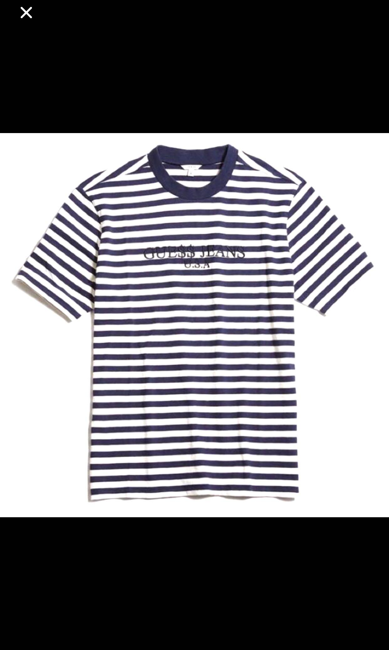 649be15543 GUESS X ASAP A$AP ROCKY STRIPE NAVY, Men's Fashion, Clothes, Tops on ...