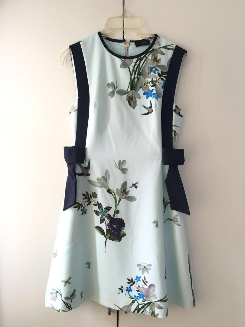 Ted Baker  in Mint Floral Pattern  with Ribbons Size 1