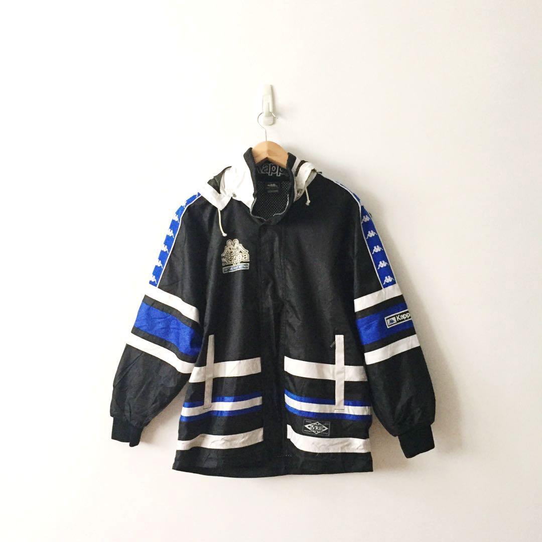 1d72f8dcd7 Kappa Vintage Tape Logo Removable Hoodie Jacket, Men's Fashion ...