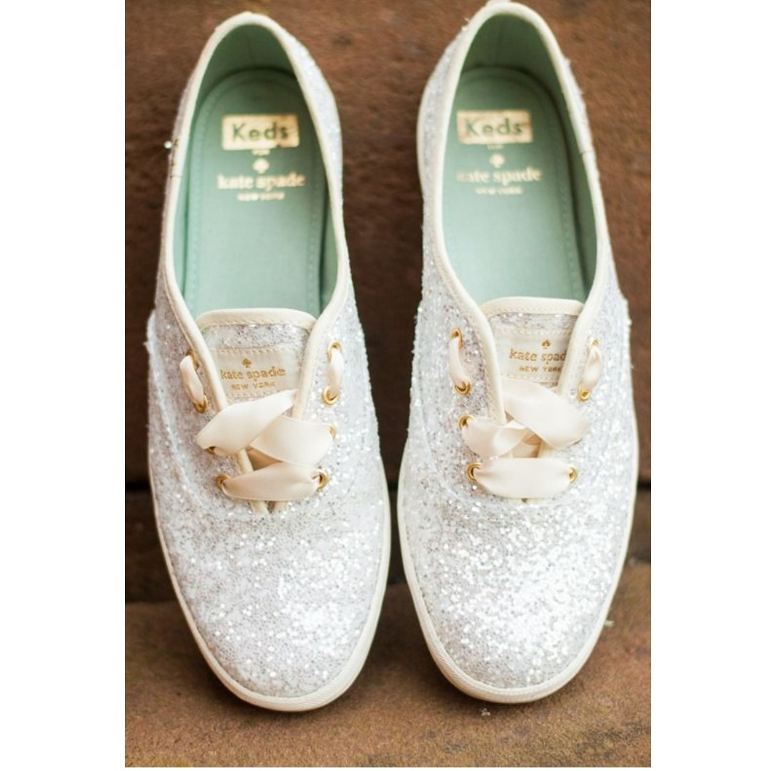 758a3d087b5 Keds x Kate Spade New York Champion in Cream Glitter