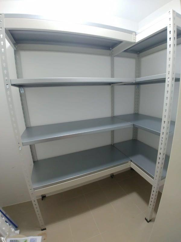 L shape storeroom rack (full metal without center pole)