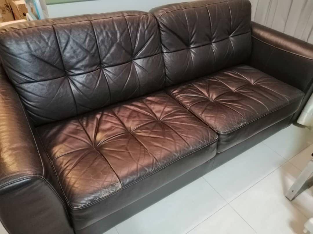 Awe Inspiring Leather Sofa 2 Seater Dailytribune Chair Design For Home Dailytribuneorg