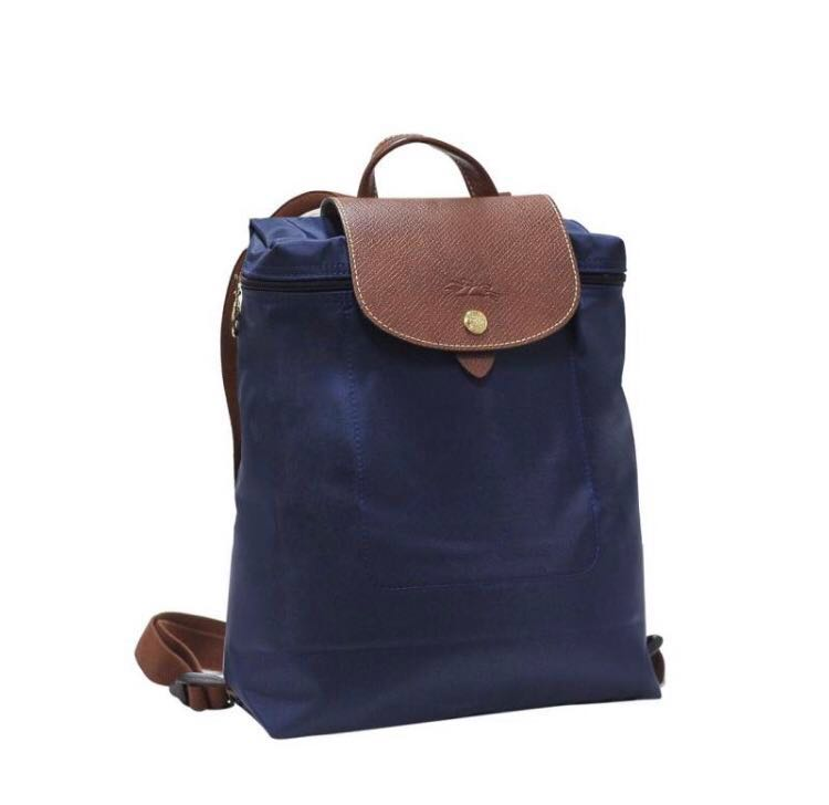 088cf7f08b7 Longchamp Le Pliage Backpack (Blue), Women's Fashion, Bags & Wallets ...