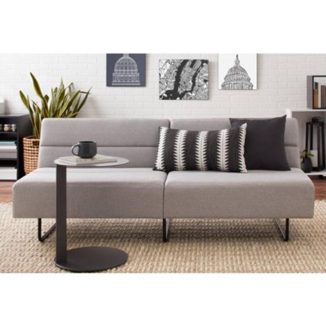 Fine Mainstays Futon Sofa Bed Gray Imported Furniture On Carousell Creativecarmelina Interior Chair Design Creativecarmelinacom