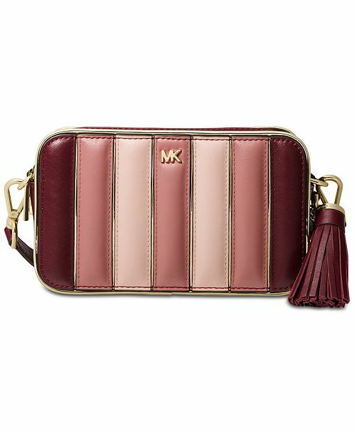 8ffa28061aac55 ♥ Michael Kors Quilted Leather Tri Color Camera Bag, Women's ...