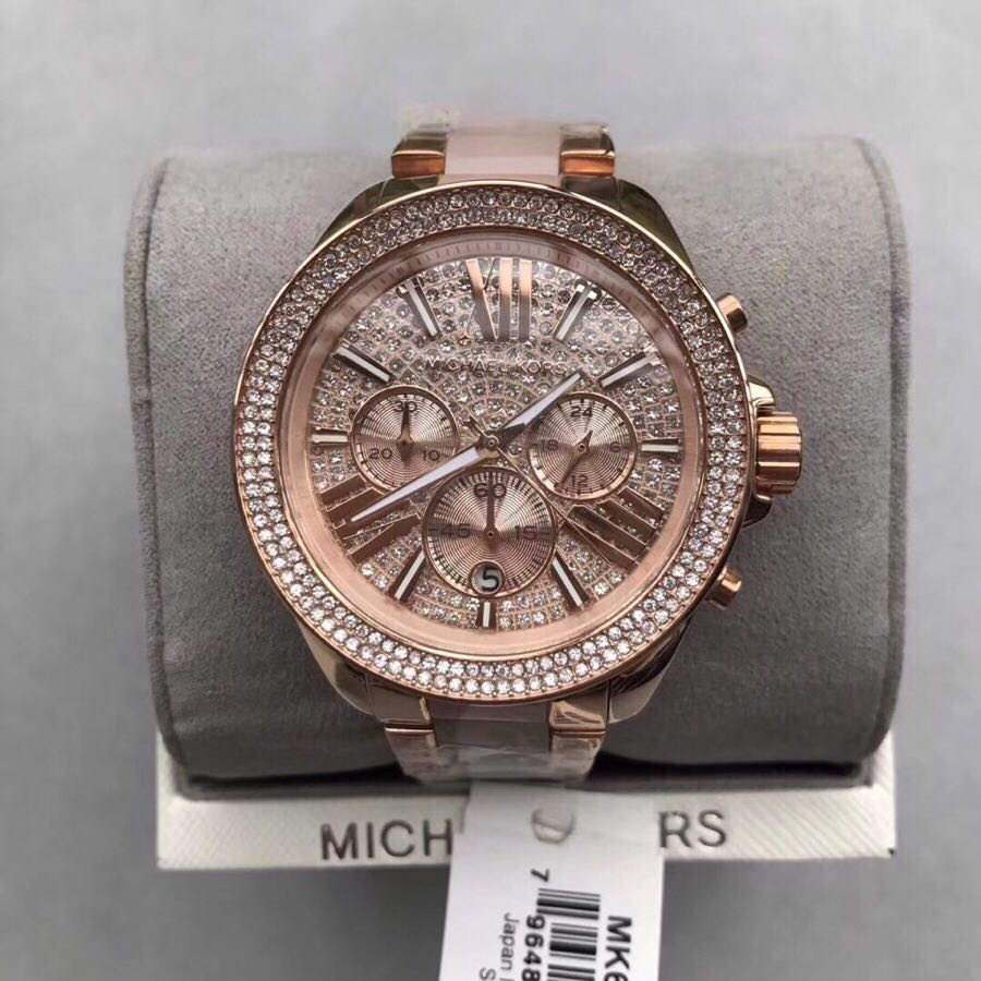 787c41650bc2 Women s Rose Gold Michael Kors Chronograph Watch MK6096