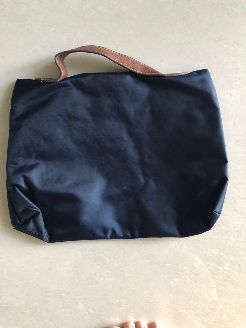 Tory Burch Inspired Navy Blue Hand Bag