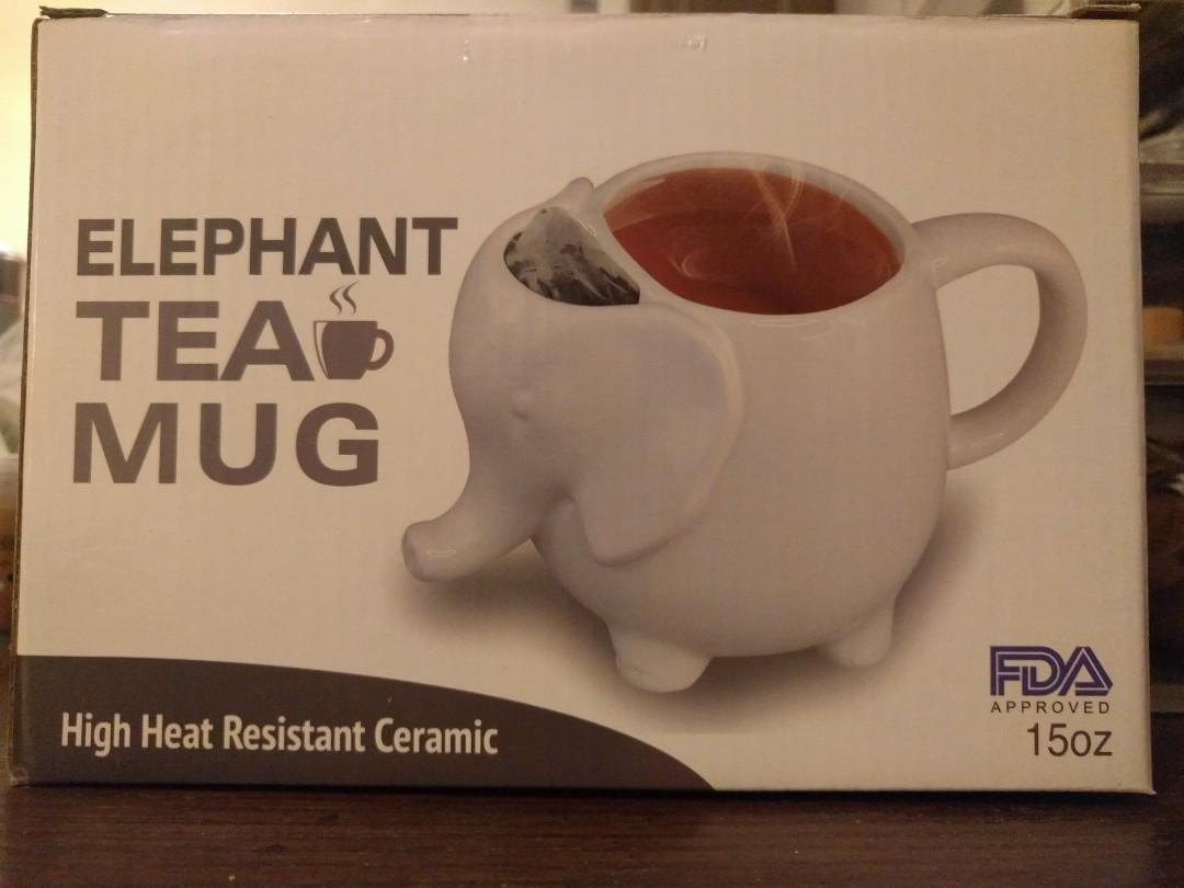 New Elephant Tea Mug - high heat resistant (2 available)