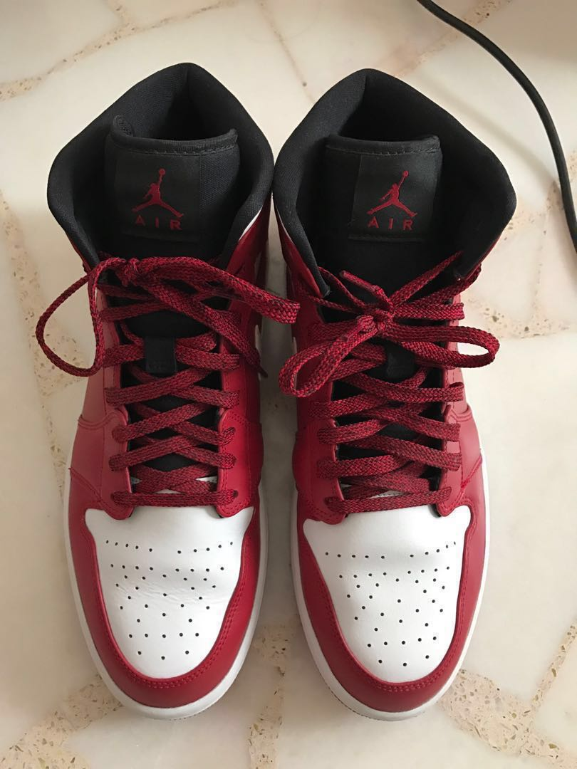 34436aa5256a15 Nike Air Jordan 1 Mid (Gym Red White)  100% Authentic!