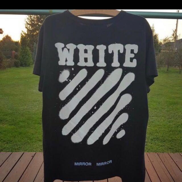 93f33b917 Off white diagonal Spray paint tee WTT/WTS, Men's Fashion, Clothes ...