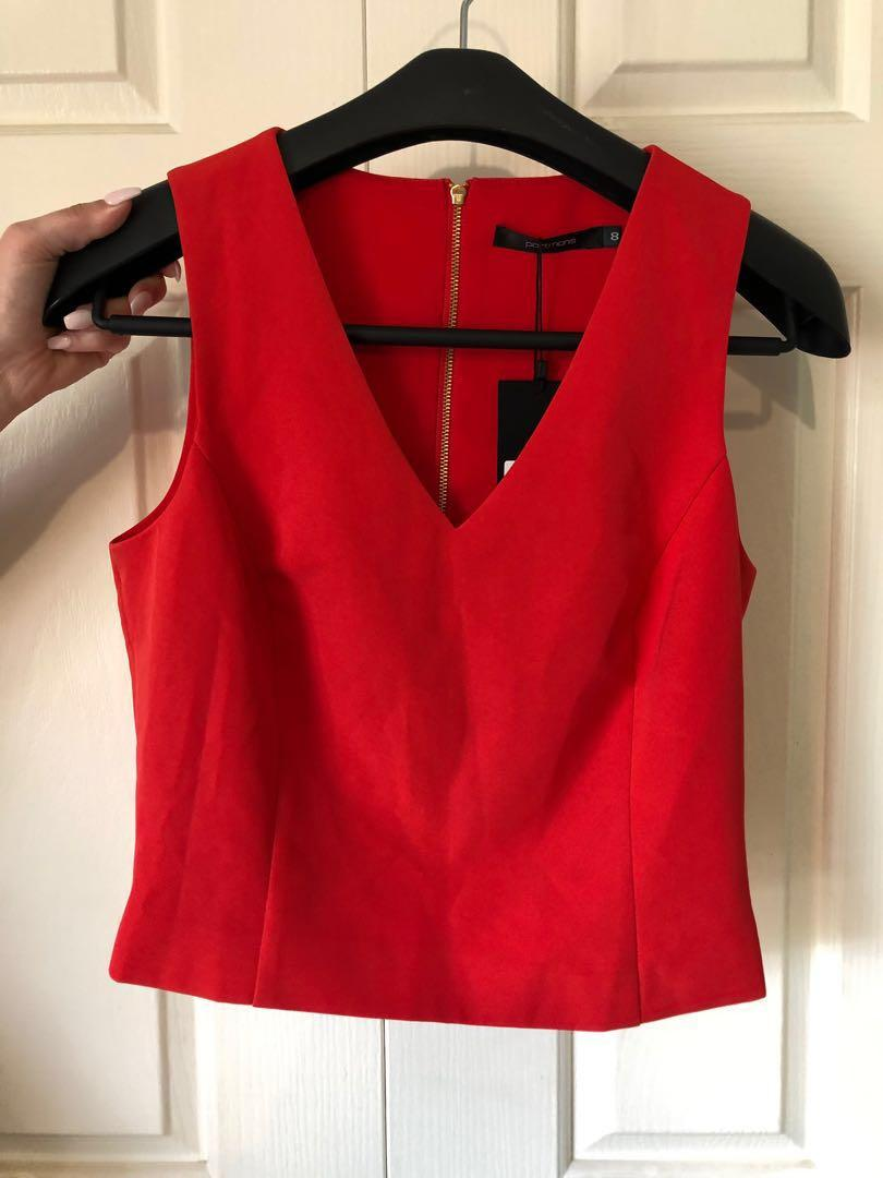 Portmans Red Cropped Shirt