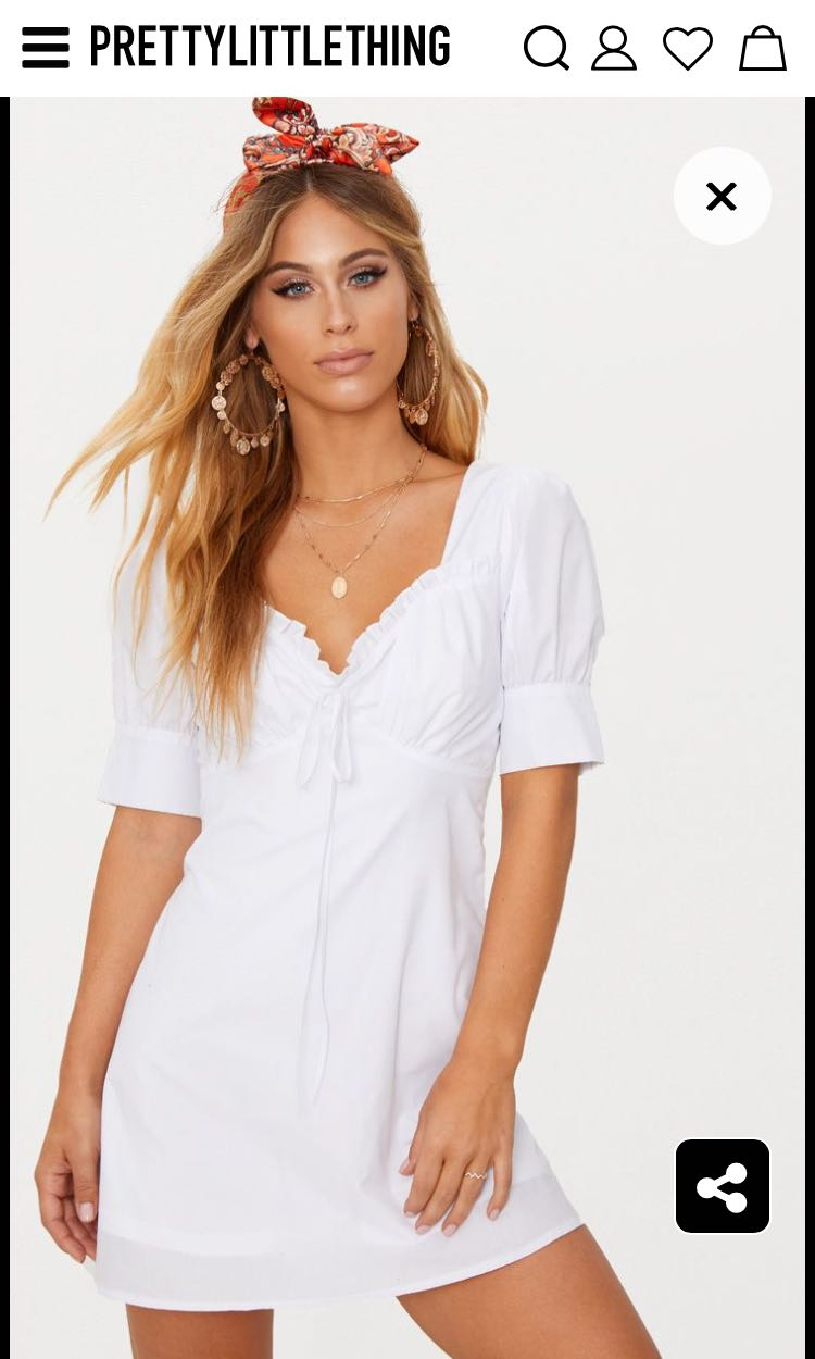 Prettylittlething White Dress Women S Fashion Clothes Dresses