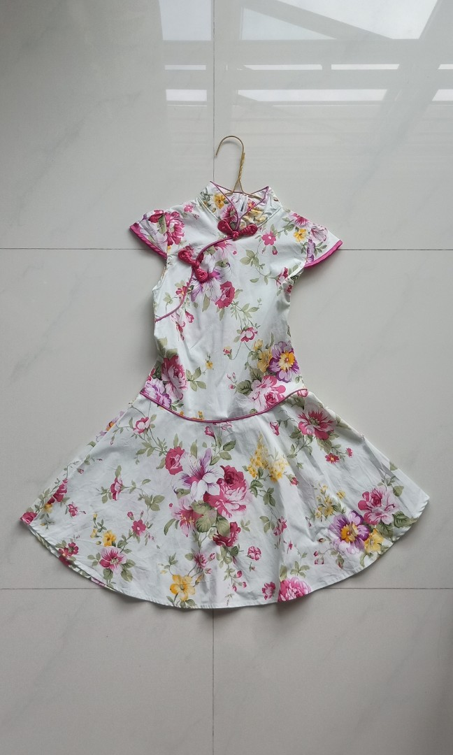 a01171847 Qipao with flared skirt for Girl