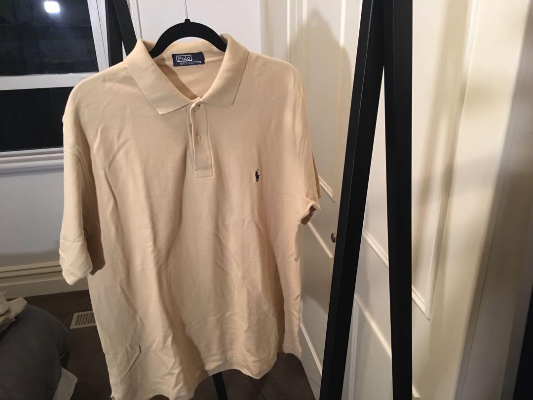 Ralph Lauren cream Polo top Size XL