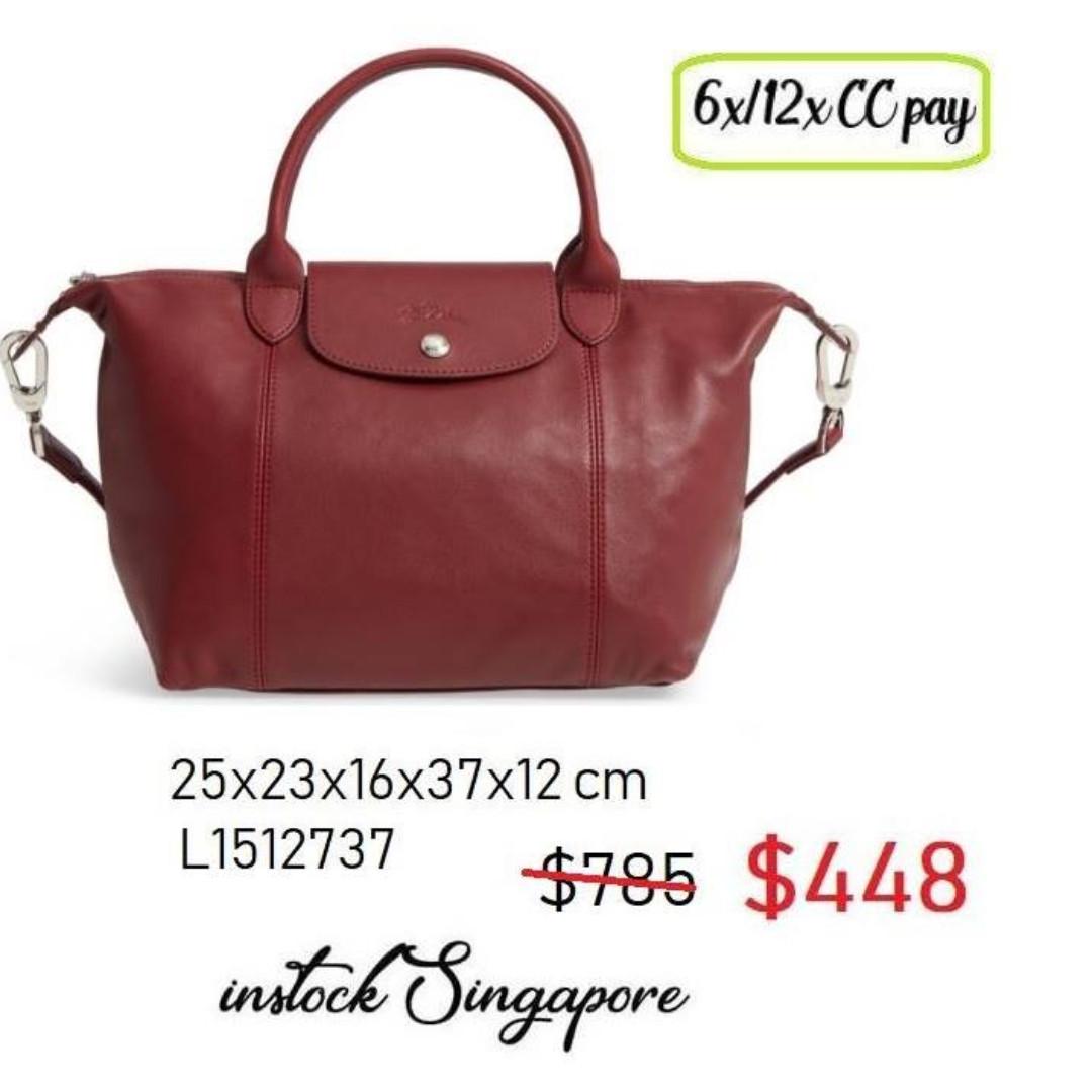 38139d4ede READY STOCK SG - BRAND NEW - AUTHENTIC $448 Longchamp LE PLIAGE cuir ...