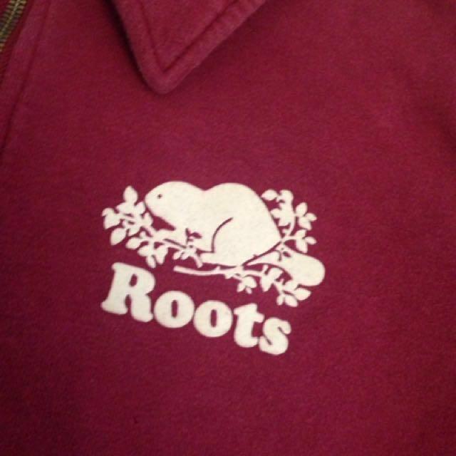 Roots magenta quarter zip