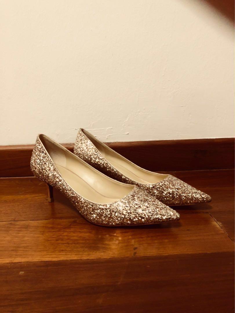 Rose Gold Bridal Wedding Shoes 5cm post