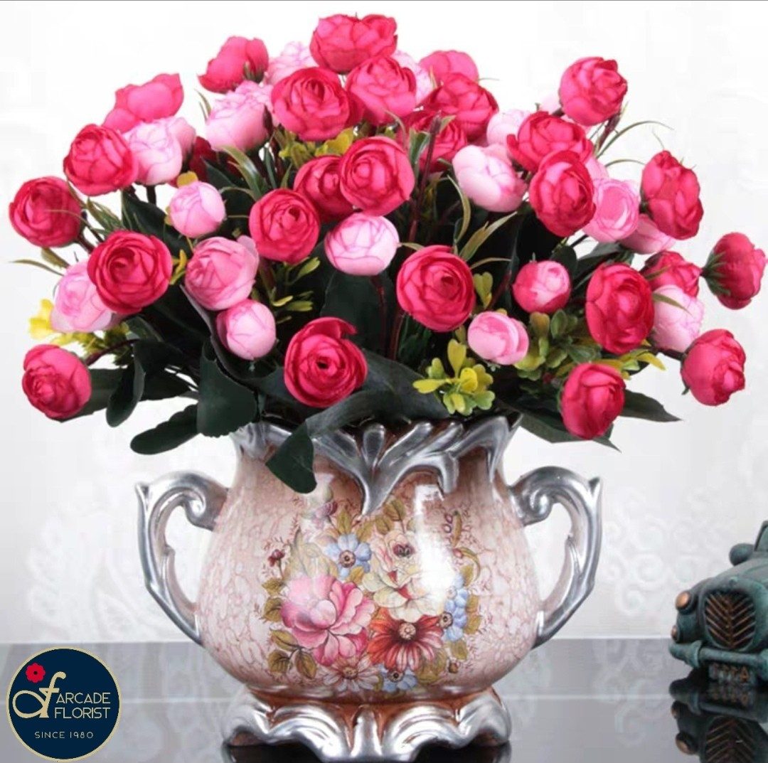 Roses W Vase Artificial Flowers Rose Flower Flower Bouquet Flower Flowers Artificial Flower Rose Roses Gardening Pots Planters On Carousell