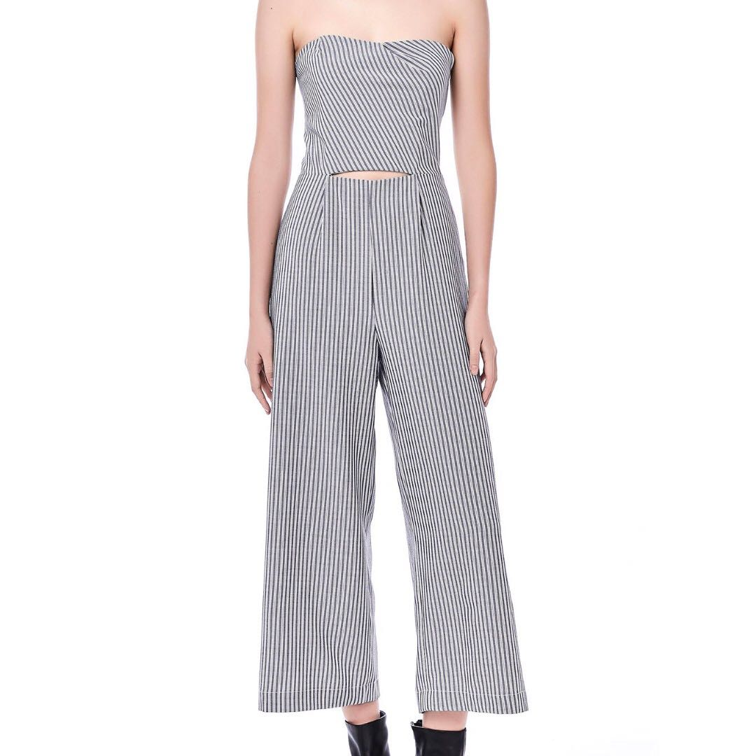 310e9196091e The Editor s Market TEM AEISHA STRIPE TUBE JUMPSUIT