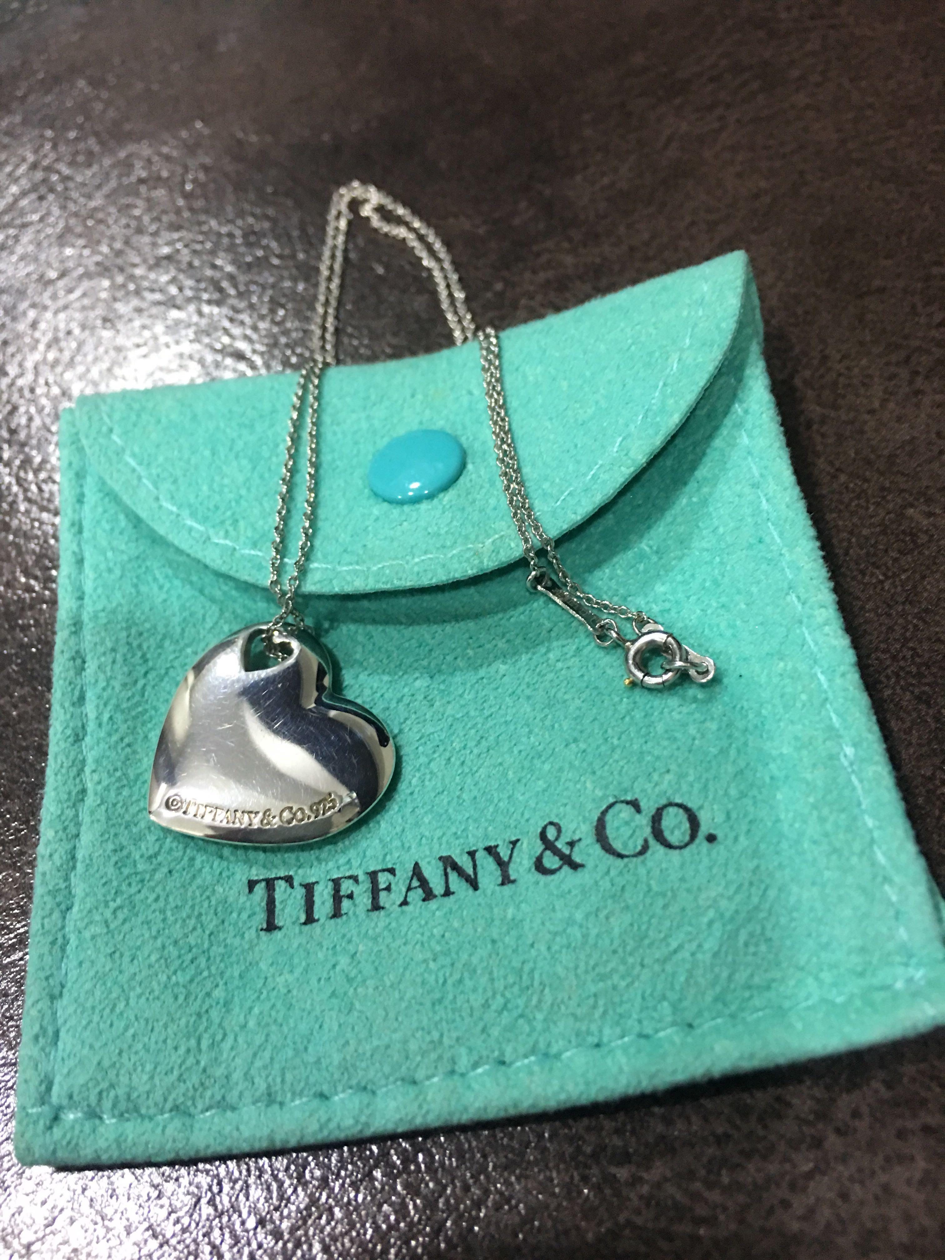 Tiffany & Co Heart Pendent Necklace (925 Sterling Silver
