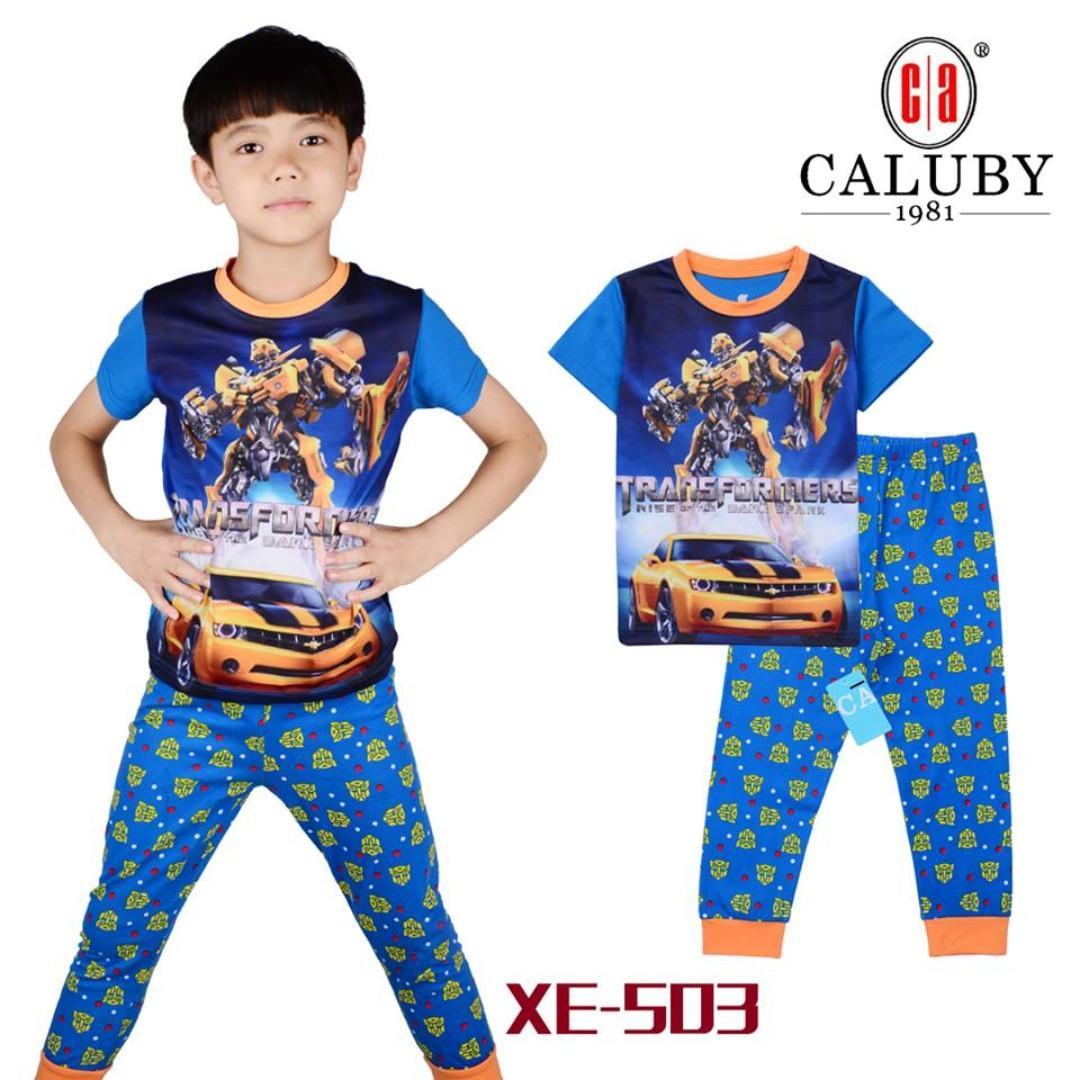 Transformer Short Sleeve Pyjamas for 2 to 7 yrs old