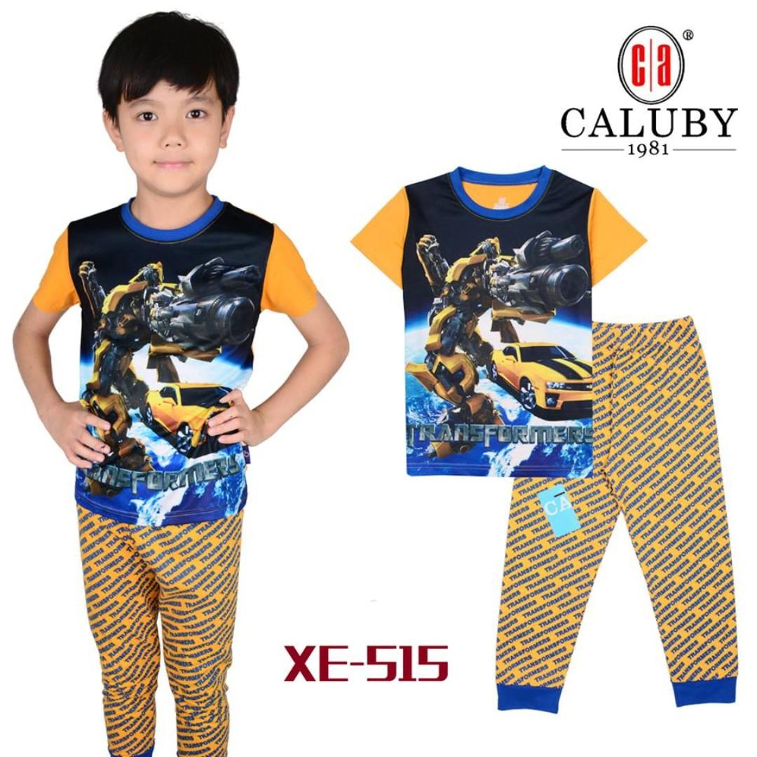 Transformer  yellow Short Sleeve Pyjamas for 2 to 7 yrs old