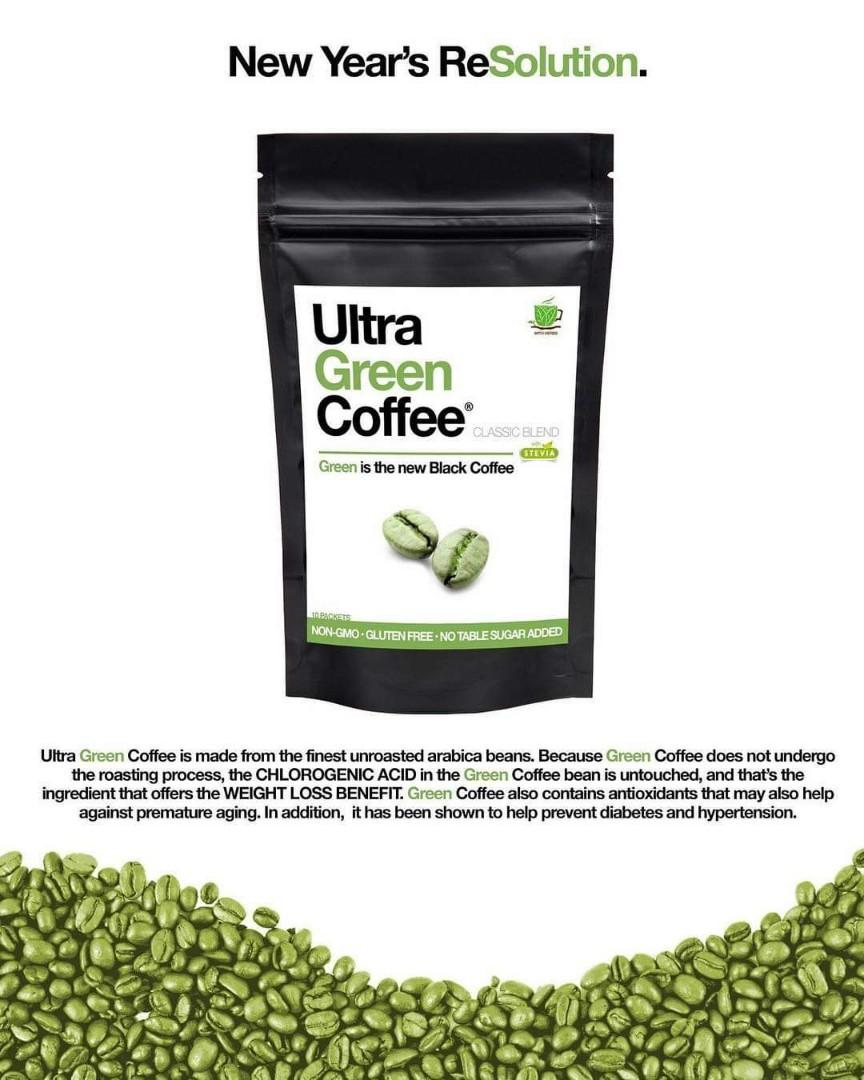 Ultra Green Coffee Classic Blend Food Drinks Beverages On