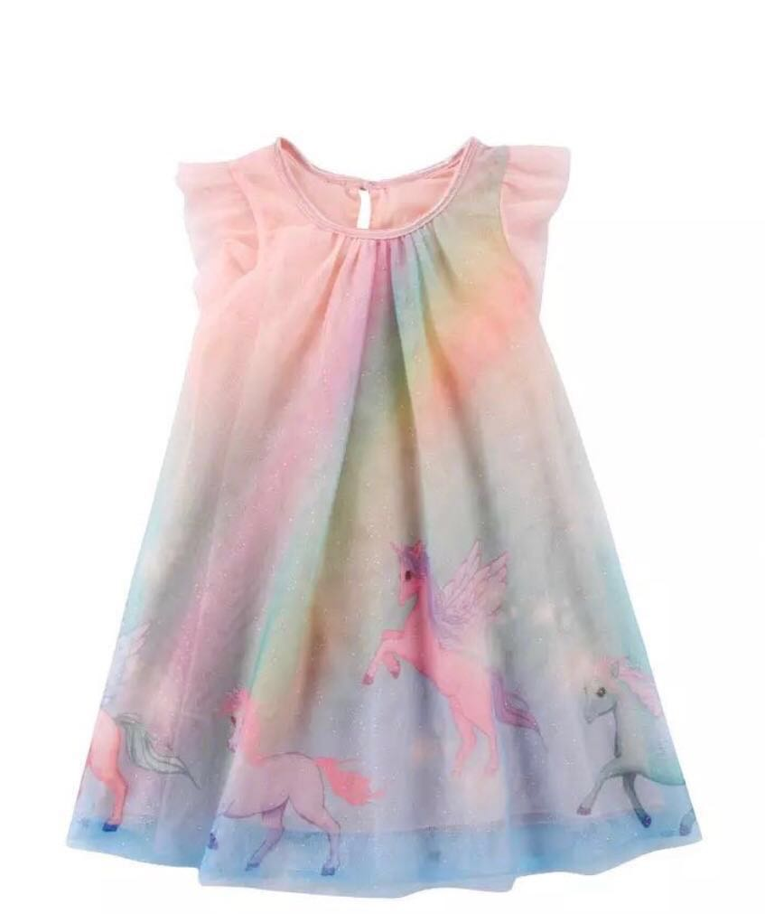 9457f1c9968 Unicorn 🦄 mesh design dress