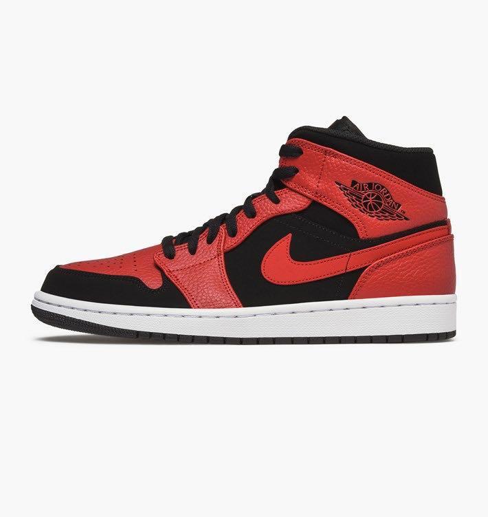 31718891bad Various sizes Nike Air Jordan 1 Mid Reverse Bred 554724-054 US10-14 ...