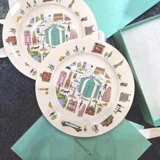 🚚 日本Tiffany & Co. 第五大道 紐約插畫瓷器盤子 附紙袋