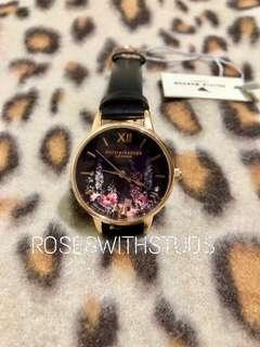 🚚 OLIVIA BURTON DARK BOUQUET ROSE GOLD WATCH 30MM