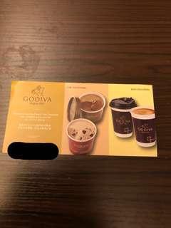 Godiva 巧克力冰淇淋或巧克力熱飲