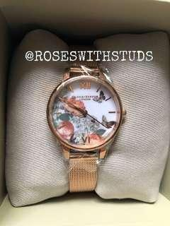 🚚 Olivia Burton Midi Signature Flora Rose Gold 30MM Watch