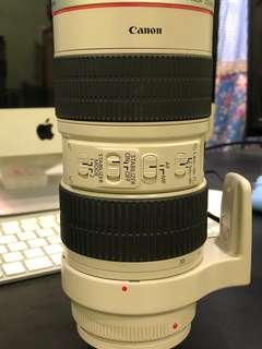Canon lens 70-200 f2.8