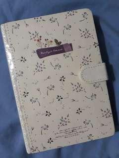 Notebook w flowers deco