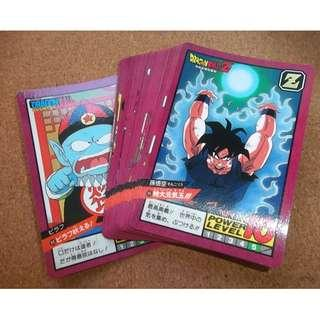 Dragonball power level part 2 Normal cards set