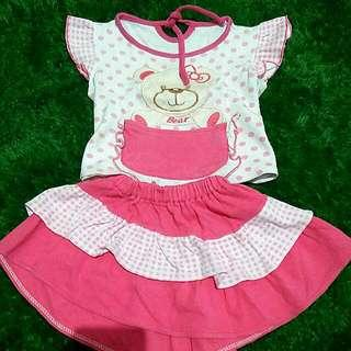 Dress Teddy Bear 1y Pink Fanta