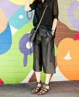 ZARA Leather Cullotes