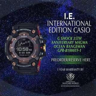 CASIO INTERNATIONAL EDITION G SHOCK RANGEMAN MAGMA OCEAN COLLECTION 35TH ANNIVERSARY GPR-B1000TF-1