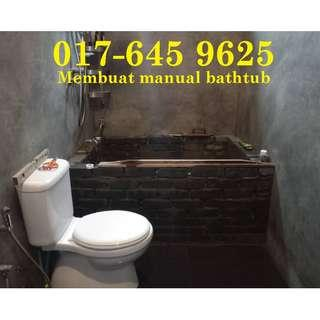 Membuat bathtub manual 017-645 9625 samsul alif