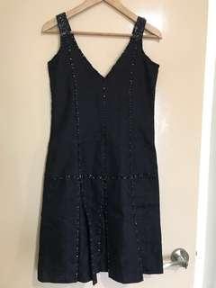 Salabianca Pleated Sequinned Dress #JAN55
