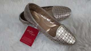 Flat Shoes Gold