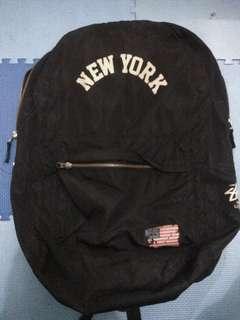 Preloved Stussy New York Backpack - Hitam